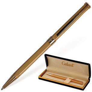 """Ручка шариковая GALANT """"Stiletto Gold"""", подарочн., корп. золотист., золотистые детали, 140527, синяя"""