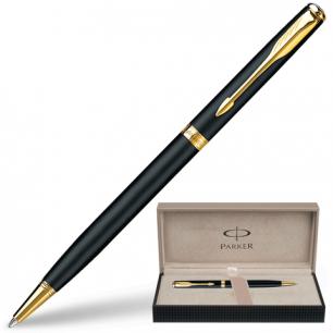 Ручка шариковая PARKER Sonnet Matte Black Slim GT корпус матов. черный, позолоченные детали