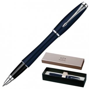 Ручка роллер PARKER Urban Night Sky Blue CT корпус латунь, лак, хромированные детали, S0850460, чер