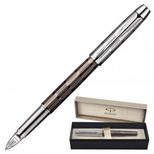 "Ручка PARKER ""5-й пишущий узел"" IM Premium Twin Chiselled CT корпус латунь, хром. детали, S0976070,чер"
