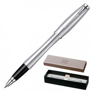 Ручка роллер PARKER Urban Metro Metallic CT корпус нержавеющая сталь, хромир. детали, S0850480,синяя