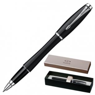 Ручка роллер PARKER Urban London Cab Black CT корпус черный, латунь, лак, хром. детали, S0850490,син