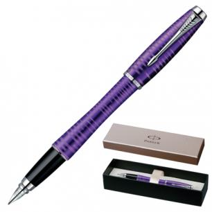 Ручка перьевая PARKER Urban Premium Vacumatic Amethyst Pearl корпус аллюмин, хром детали, 1906860,син
