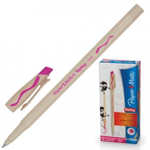 "Ручка Пиши-стирай шариковая PAPER MATE ""Replay"", корпус бежевый, 1,0мм, S0851441, розовая"