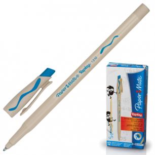 "Ручка Пиши-стирай шариковая PAPER MATE ""Replay"", корпус бежевый, 1,0мм, S0851451, бирюзовая"