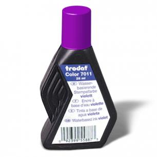 Краска штемпельная TRODAT фиолетовая 28 мл, на водной основе, 7011ф