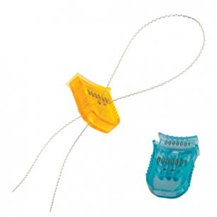 Пломбы стиропластовые номерные, ГАРПУН, самофиксирующиеся, КОМПЛЕКТ 100шт (проволока 600811,600280)