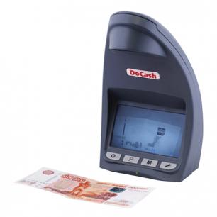 """Детектор банкнот DOCASH DVM Lite D, сенсорный ЖК-монитор 11,9см, проверка в и/к-свете, """"спецэлем. М"""""""