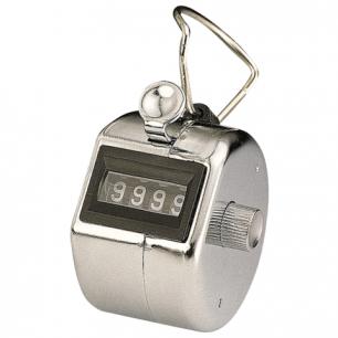 Счетчик механический KW-trio, счет от 0 до 9999, корпус металлический хромированный, 2410