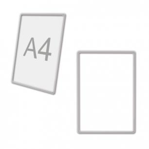 Рамка POS для ценников, рекламы и объявлений А4, ПРОЗРАЧНАЯ, без защитного экрана, 290702