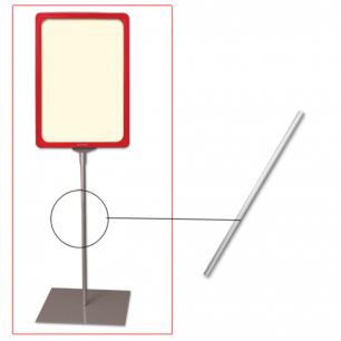 Трубка для сборки напольной стойки под рамку POS, высота 300 мм, диаметр 10мм, 290266
