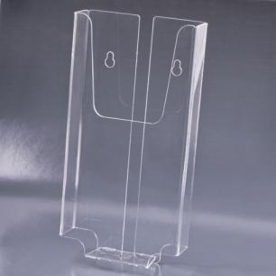 Подставка для рек. матер. BRAUBERG 1/3А4 (евро)  верт.105х210х30мм, настен, оргстекло, защ.плён, 290434