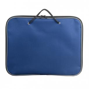 Папка на молнии с ручками А4, синяя, размер 350*270 мм, 221434