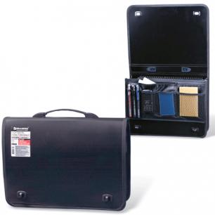 Портфель пласт. BRAUBERG КОНТРАКТ А4 370*270*90 мм, 1отделение, 2 накладных кармана, черный, 223078