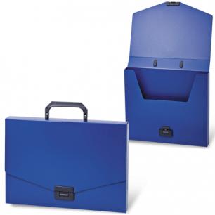 Портфель пласт. BRAUBERG Energy, А4 256*330 мм, без отделений, синий, 222082
