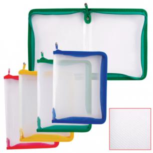 """Папка на молнии пластиковая ERICH KRAUSE """"Zip Folder"""", А4, 325*225мм, 4 цвета ассорти, 0,5мм, 4565"""