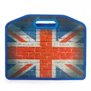 Сумка пластиковая BRAUBERG А4 37*30 см, на молнии, цв.печать, универсальная, Флаг, 223804