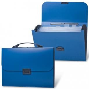 Портфель пласт. BRAUBERG Energy, А4 256*330 мм, 6 отделений, синий, 222572