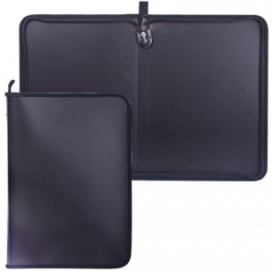 Папка на молнии пластиковая А4, матовая, черная, размер 320*230мм, ПМ-А4-11/4 (ш/к-0248)