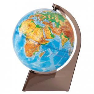 Глобус физический, диаметр 210 мм, рельефный (Россия), 10275