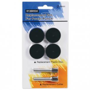 Сменные запасные части для дырокола KW-trio 9550, КОМПЛЕКТ 2 ножа и 4 пластик. диска, блистер, 1300534