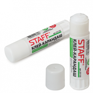 Клей-карандаш STAFF эконом, 15 г, 221132