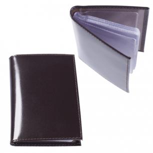 """Визитница карманная BEFLER """"Classic"""" на 40 визиток, натур. кожа, коричневая, V.32.-1, ш/к-00017"""