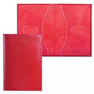 """Обложка для паспорта BEFLER натур. кожа, тиснение """"ящерица"""",  красная, О.1-3, ш/к-75619"""