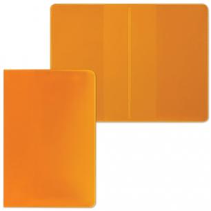 Обложка для проездного билета, ПВХ, 123*94, ассорти (прозрач синий, желтый, оранжевый), ДПС, 1785.250 Ф