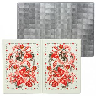 """Обложка для паспорта """"Твой стиль-Узор"""", вертикальная, кожзам, ДПС, 2203.Т4"""