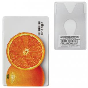 """Обложка-карман для карточек, пропусков ПВХ """"Фрукты"""", 65*95 мм, ассорти, ДПС, 2802.ЯК.Ф"""