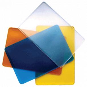 Обложка-карман для проездных документов и карт, ПВХ, ассорти (прозр син, жел, оранж), 65*98,ДПС, 1164.250.Ф