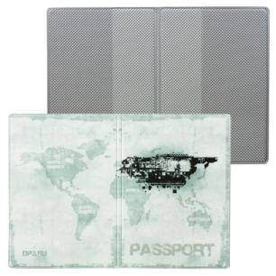 """Обложка для паспорта """"Твой стиль-Гранж"""", вертикальная, кожзам, ДПС, 2203.Т2"""