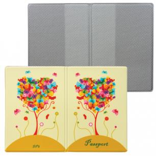 """Обложка для паспорта """"Твой стиль-Дерево"""", вертикальная, кожзам, ДПС, 2203.Т6"""