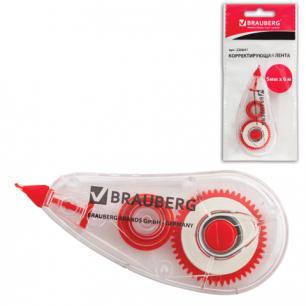"Корректирующая лента BRAUBERG ""Red Power"", 5мм*6м, упаковка с европодвесом, 220641"