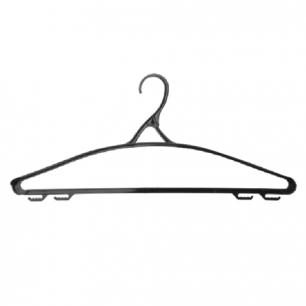 Вешалка-плечики IDEA, пластиковая, р.48-50, 43см, цвет черный, М 2208