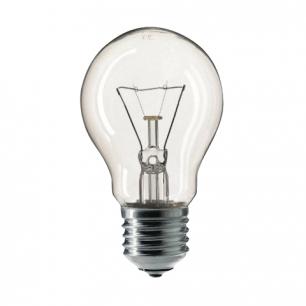 Лампа накаливания PHILIPS A55 CL E27, 75Вт, грушевид., прозрач., колба d=55мм, цоколь d=27мм, 354594