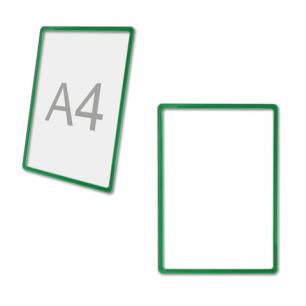 Рамка POS для ценников, рекламы и объявлений А4, ЗЕЛЕНАЯ, без защитного экрана, 290253