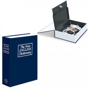 """Ящик для денег, ценностей, докумов, печатей BRAUBERG """"Книга"""", 55*155*235мм, ключ.зам, син, 290459"""