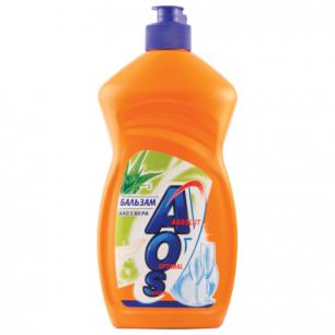"Средство для мытья посуды AOS 500мл, ""Бальзам Алоэ Вера"", ш/к 12442"
