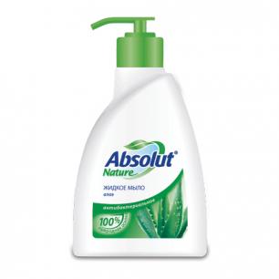 """Мыло жидкое ABSOLUT (Абсолют)  250мл, """"Алоэ"""", антибактериальное, дозатор, 5064"""