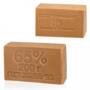 Мыло хозяйственное 65%, 200г (Меридиан), без упаковки, ш/к транспортной упаковки 90562