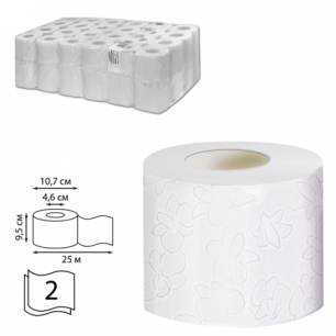 Бумага туалетная 25м, VEIRO Professional Comfort, КОМПЛЕКТ 48шт., 2-сл, (дисп. 601826)  T207