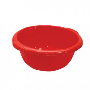 Таз 10л хозяйственный IDEA, круглый, с ручками, пластиковый, (в15*ш40*г43см), цвет красный, М 2506