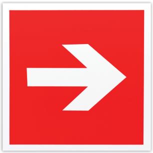 """Знак пожарной безопасности """"Направляющая стрелка"""", 200*200мм, самоклейка, фотолюминесцентный, F 01-01"""