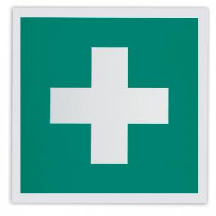 """Знак """"Аптечка первой медицинской помощи"""", 200*200мм, самоклейка, фотолюминесцентный, ЕС 01"""