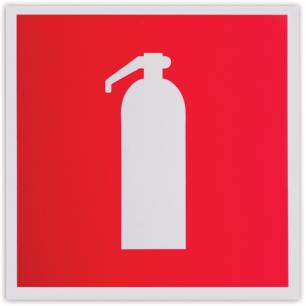 """Знак пожарной безопасности """"Огнетушитель"""", 200*200мм, самоклейка, фотолюминесцентный, F 04"""