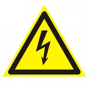 """Знак предупреждающий """"Опасность поражения электрич. током"""", треуг. 200*200*200мм, самокл, 610007/W 08"""