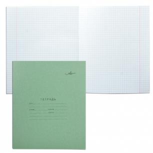 """Тетрадь 12л. Зелёная обложка """"Архбум"""", офсет, клетка с полями, AZ02"""