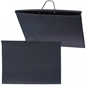 Папка для рисунков и чертежей А2, 640х470мм, с ручками, пластиковая, черная, ПМ-А2-35